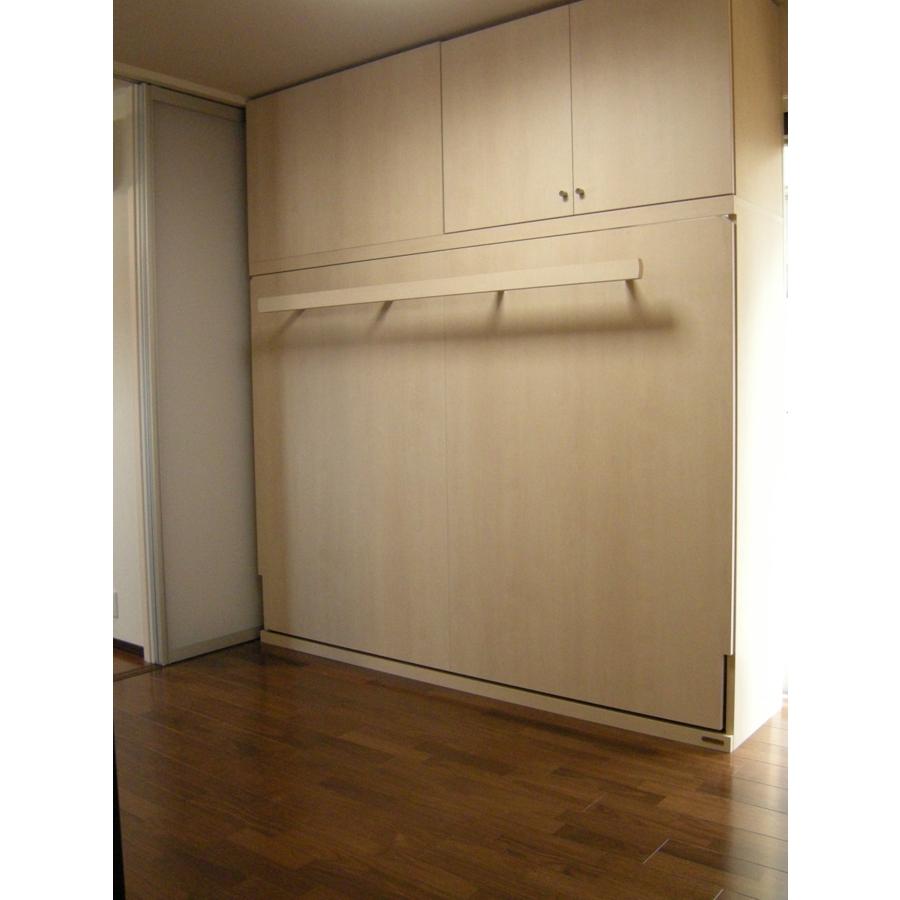 壁面収納ベッドGR横上置T様閉