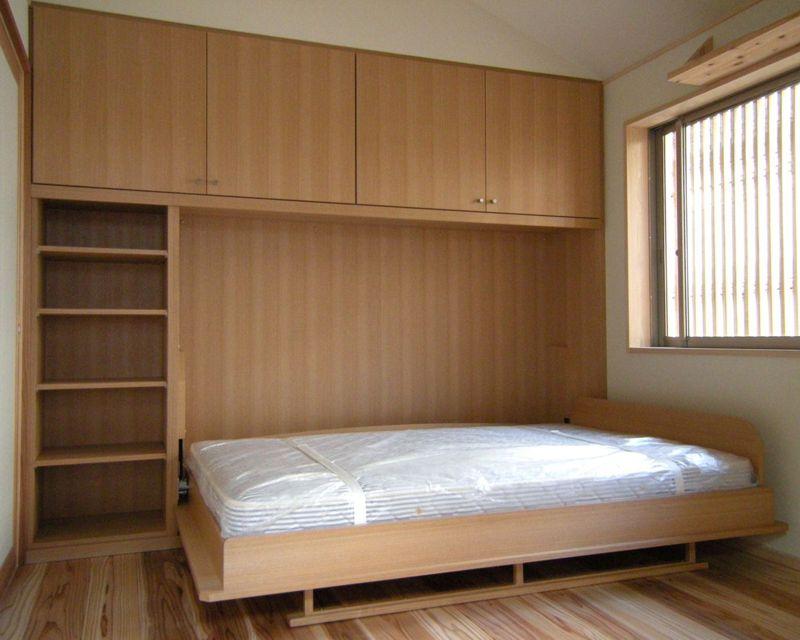 壁面収納ベッド横型開